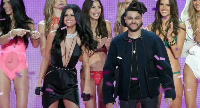 Selena Gomez and The Weeknd perform at Victoria's Secret Fashion Show 2015