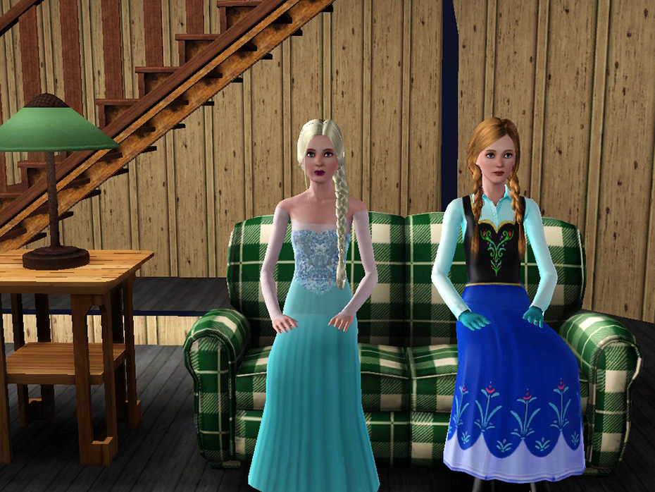 Anna and Elsa Frozen Sims