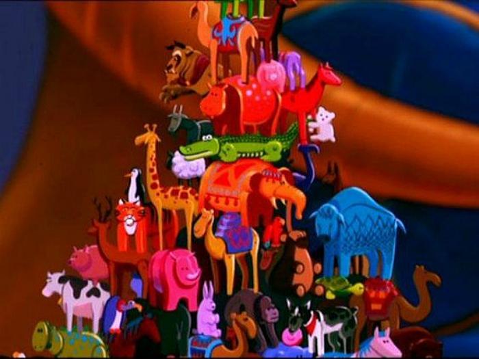 Beast cameo in Aladdin