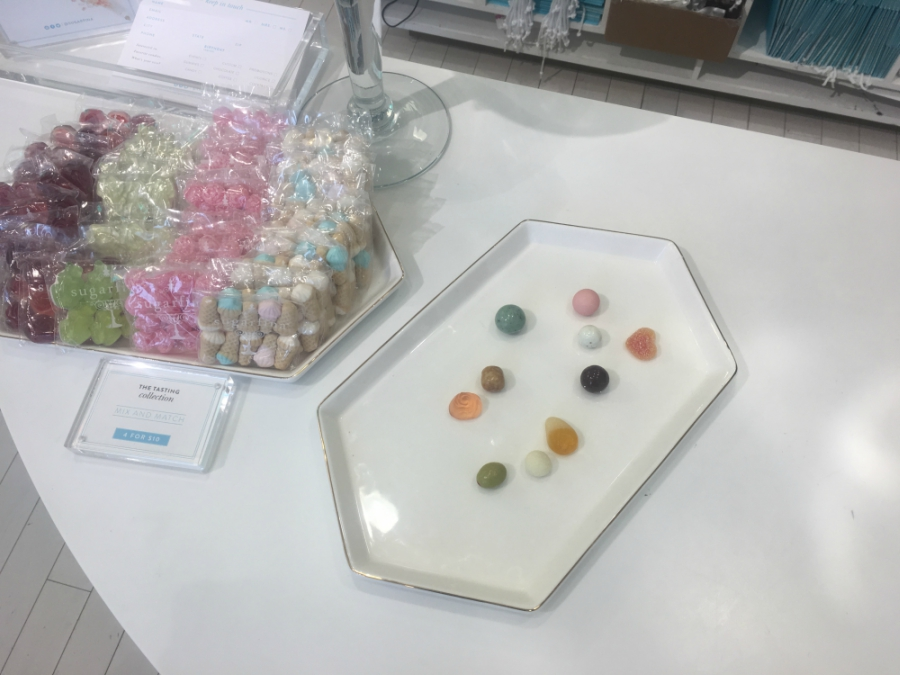 Candy samples at Sugarfina