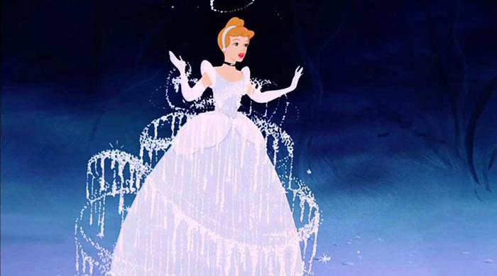 Cinderella in a blue dress