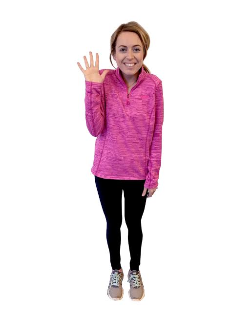 Brittney's fifth day of wearing workout outfits