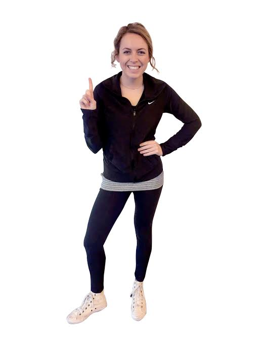 Brittney's first workout outfit