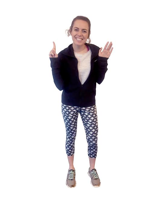 Brittney's sixth day of wearing workout outfits