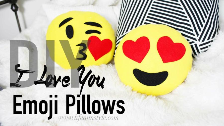 DIY emoji pillows from Aww Sam