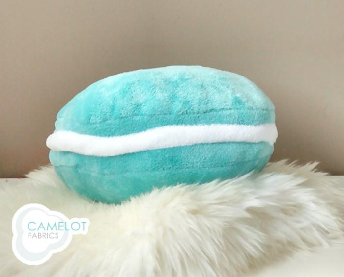 DIY macaron pillow from Camelot Fabrics