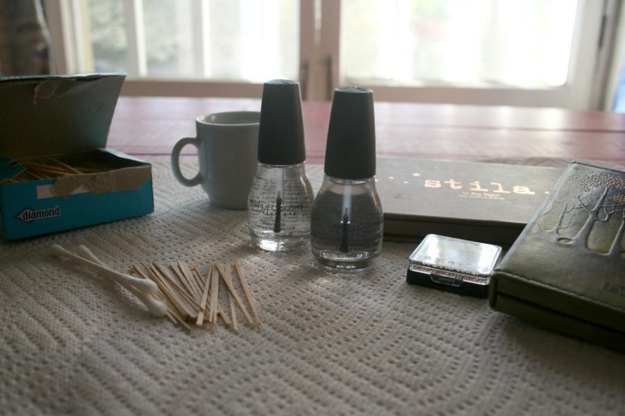DIY nail polish supplies