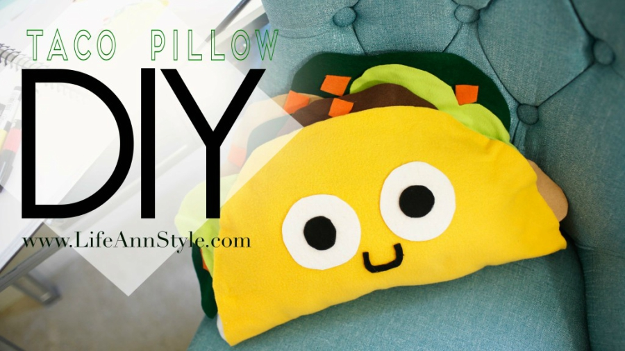 DIY taco pillow form Life Ann Style
