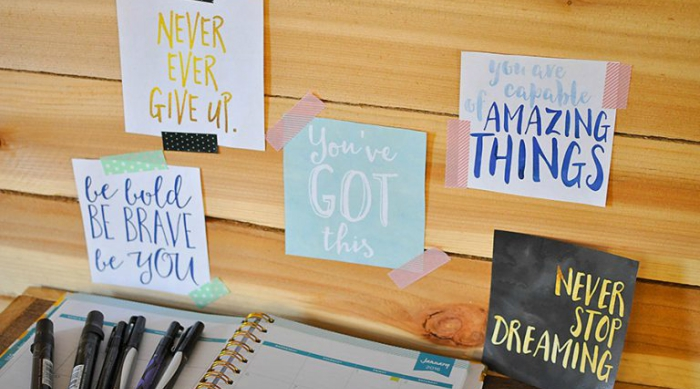 inspirational quote vision board featured