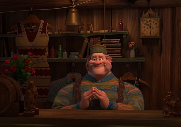 Mike Wazowski Monster's Inc. cameo in Frozen