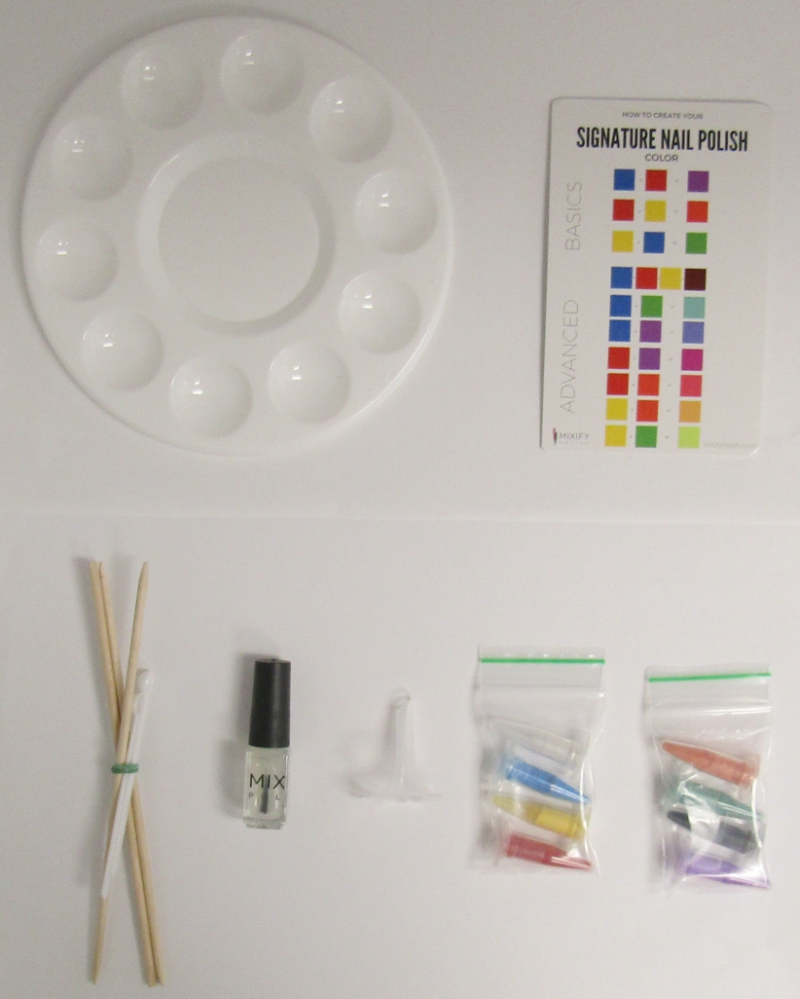 Mixify Polish DIY nail polish kit contents