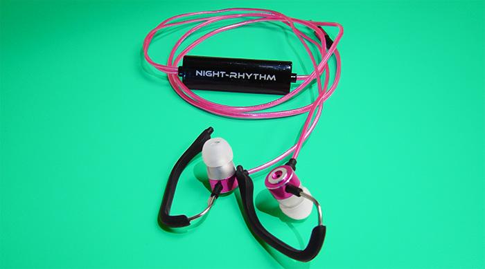 Night rhythm headphones pink