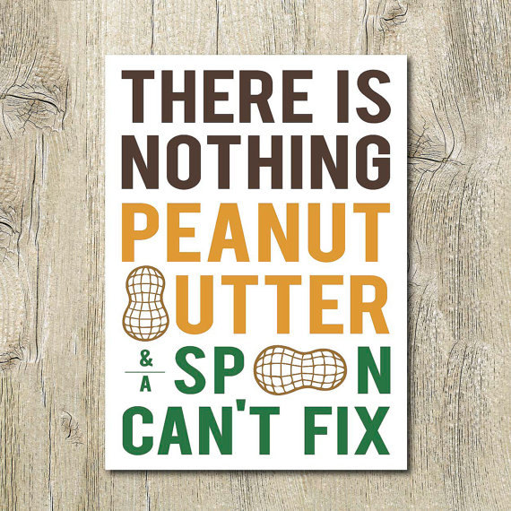 Peanut butter print
