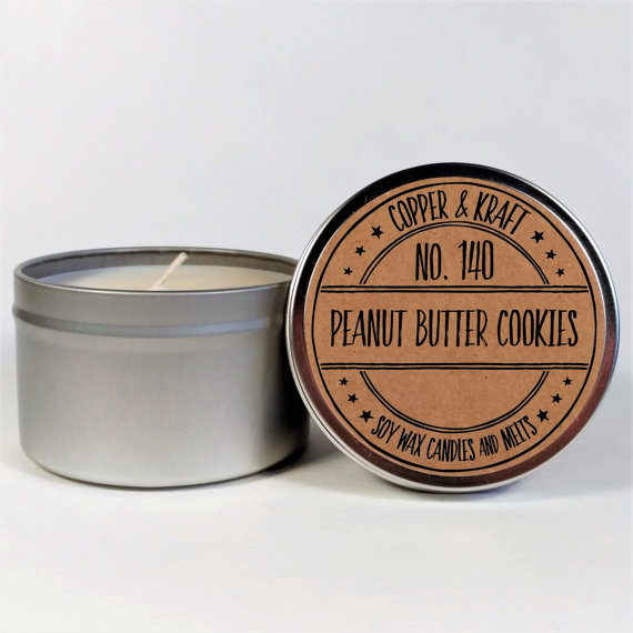 Peanut butter cookie candle