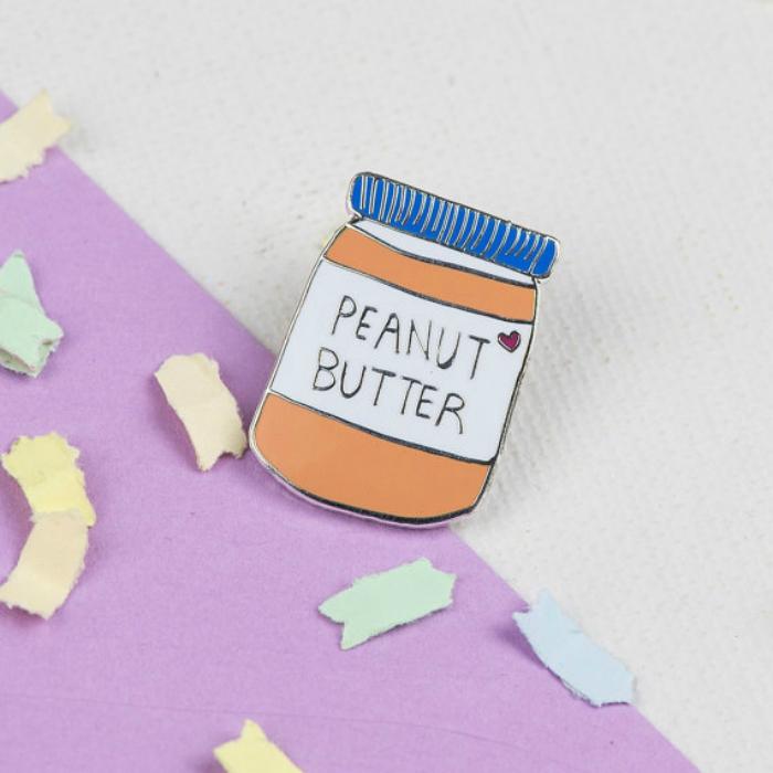 Peanut butter enamel pin