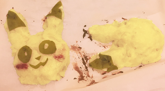 Pikachu sweet potato cakes