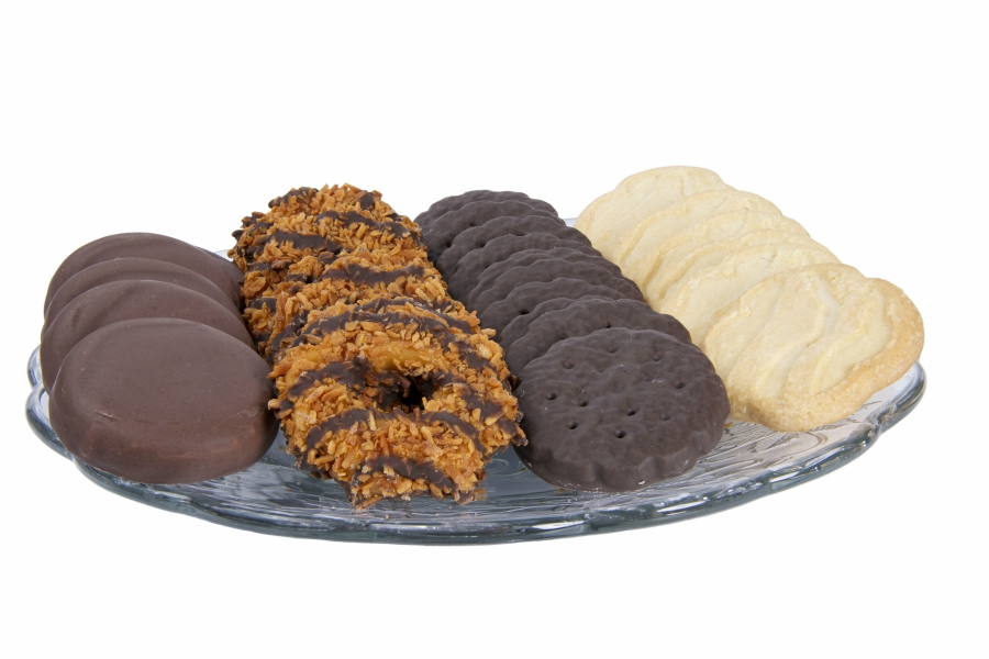 Plate of Girl Scout Cookies