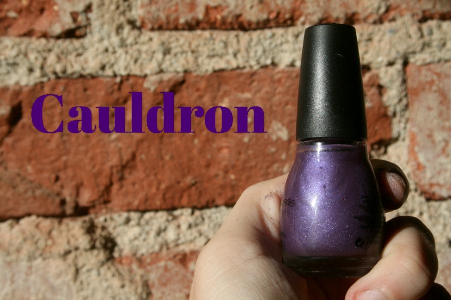 Purple nail polish final product.