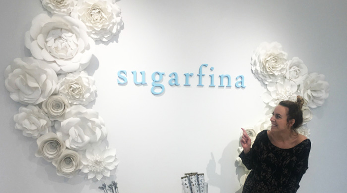 Brittney in front of Sugarfina