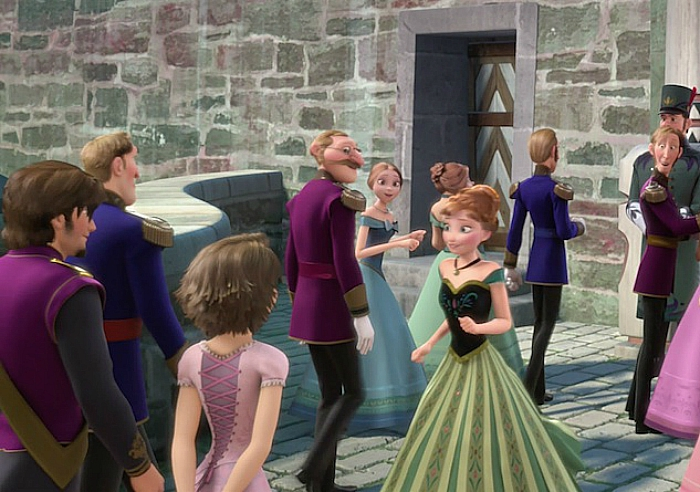 Rapunzel and Flynn cameo in Frozen