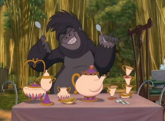 Mrs. Potts cameo in Tarzan