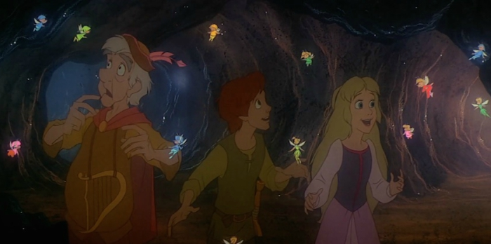 Tinkerbell cameo in the Black Cauldron