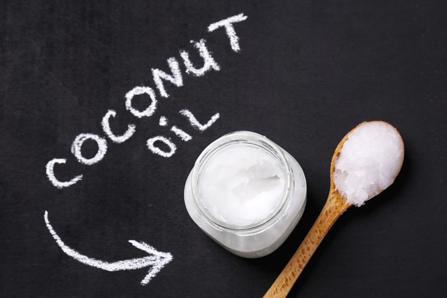 Coconut nut oil DIY chalk spoon