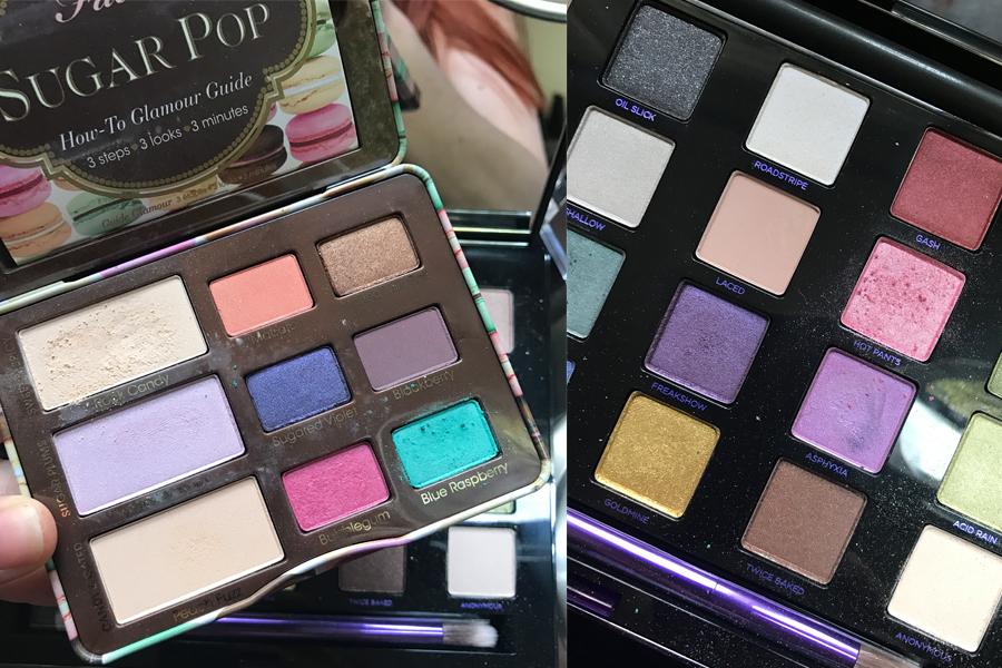 Mermaid makeup trend eyeshadow Too Faced palettes