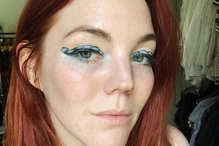 Final look mermaid makeup trend