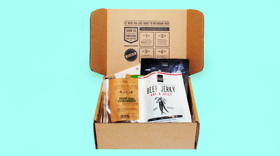 Subscription box of People's Choice Beef Jerky