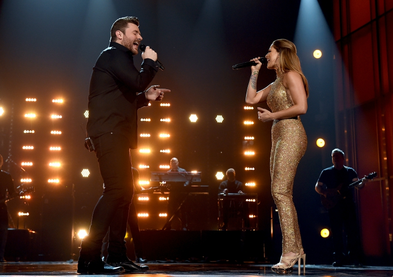 Cassadee Pope and Chris Young duet