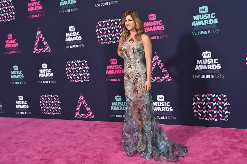 Cassadee Pope on the red carpet at the 2016 CMT Music Awards