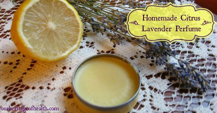 DIY citrus lavender solid perfume