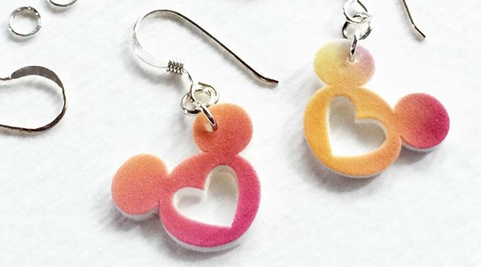 DIY mickey mouse earrings