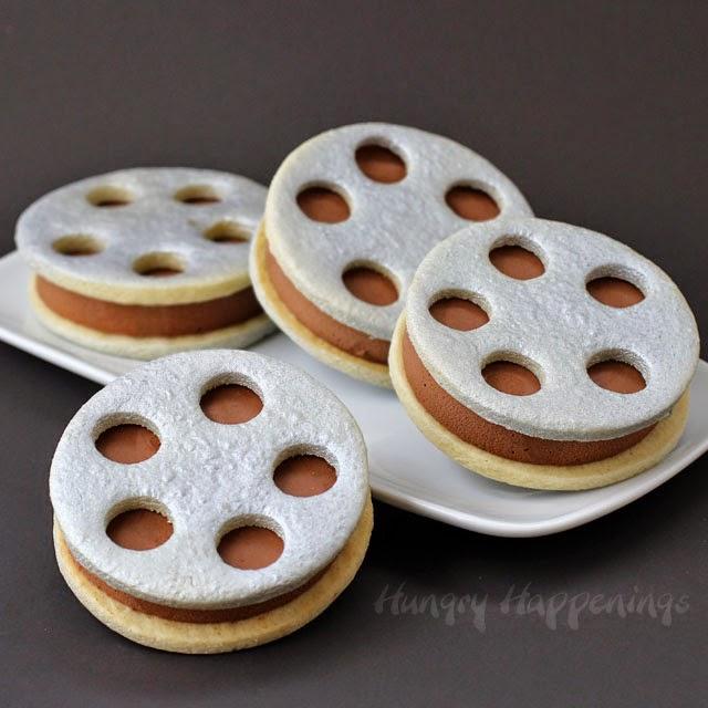 film reel ice cream sandwiches