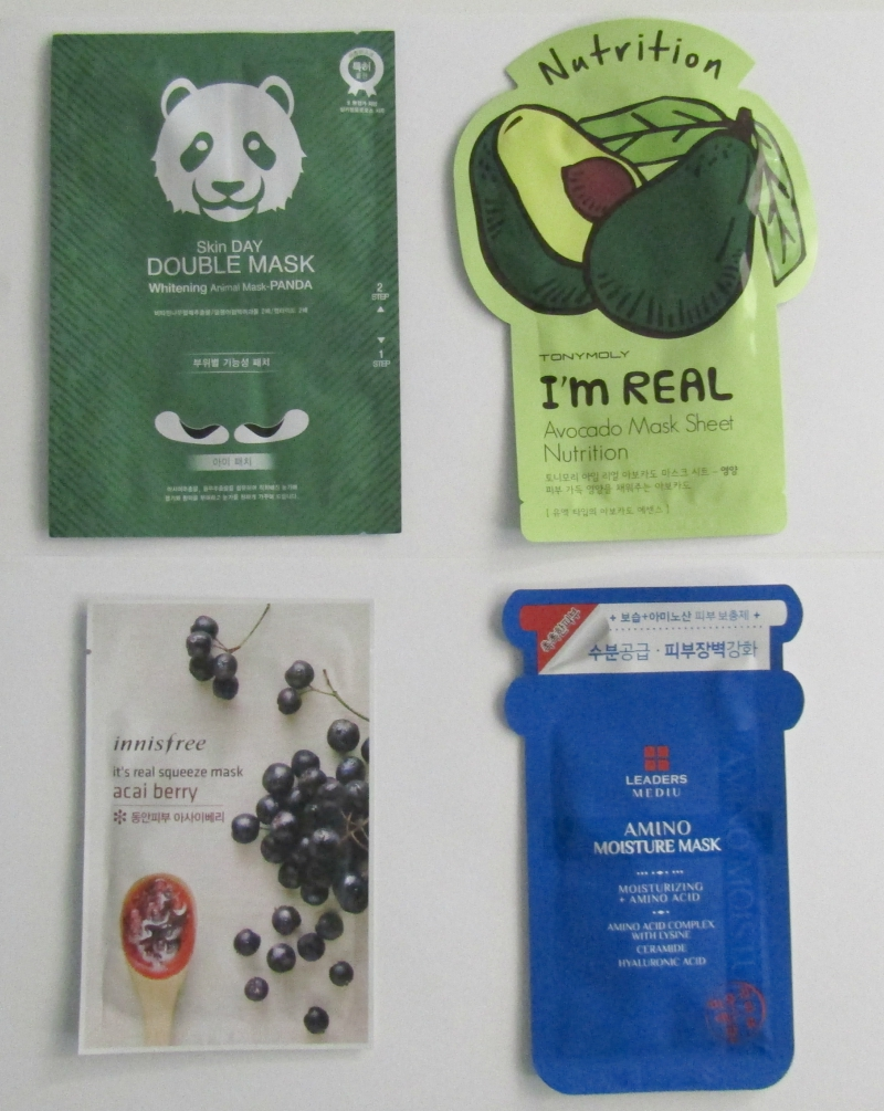 Four face masks from FaceTory's Four-Ever Fresh subscription box