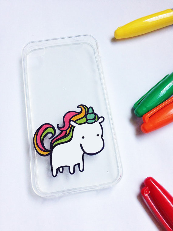 Hand-painted unicorn cell phone case