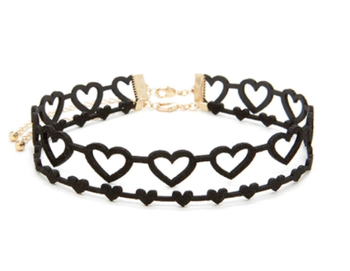 Heart choker set from Forever 21