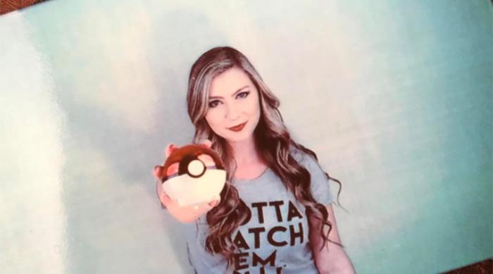 Katie Wilson wearing Pokémon t-shirt