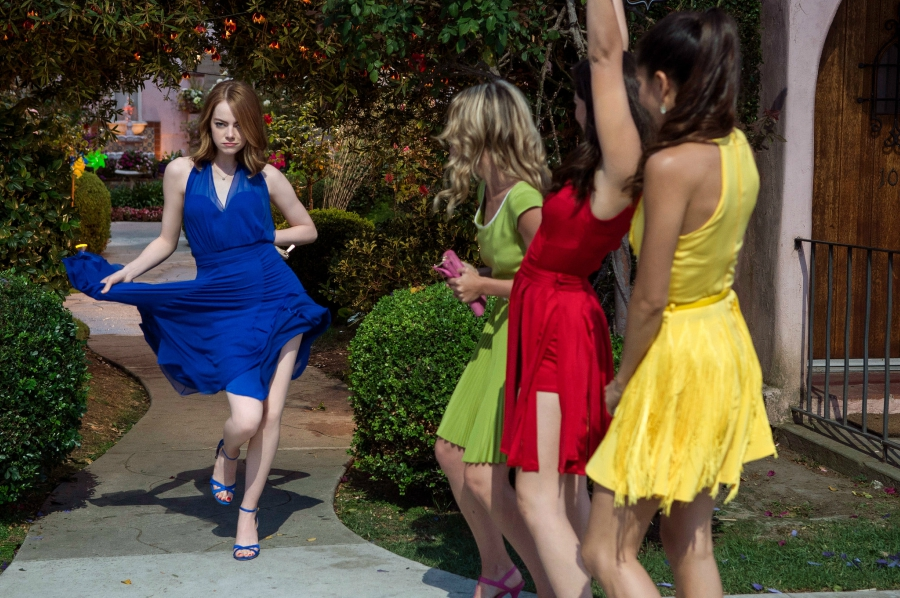 Mia dancing with her friends