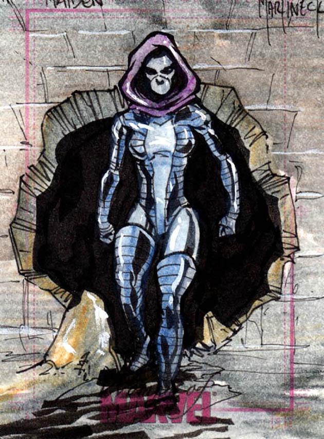 Marvel superhero Melina Vostokoff aka Iron Maiden