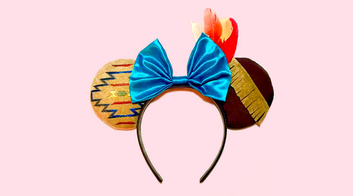 Pocahontas-inspired Mickey ears