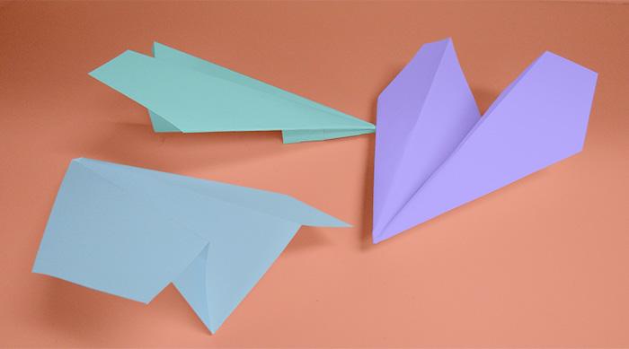 Colorful Harvard Paper Airplanes