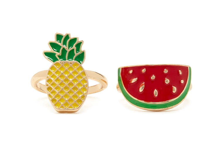 Pineapple and watermelon ring