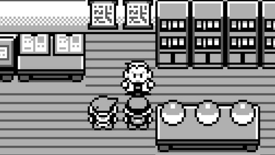 Pokémon Red/Blue on Gameboy: Red and Blue get Pokémon from Professor Oak