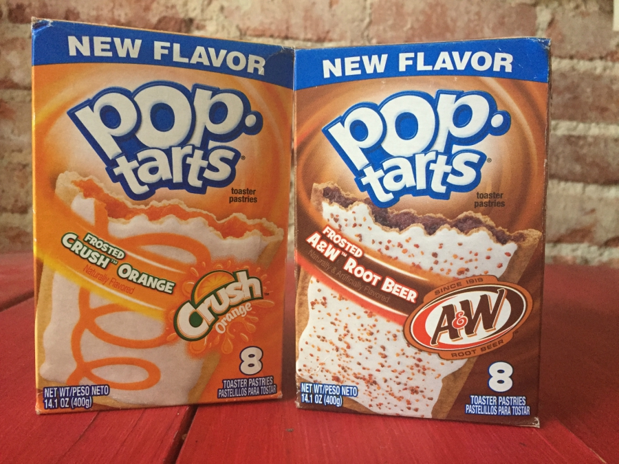 Boxes of soda-flavored Pop Tarts, Orange Crush and Root Beer