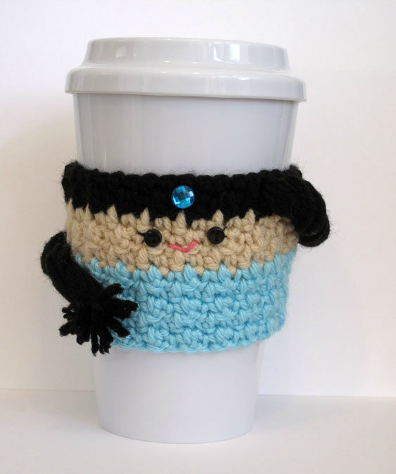 Princess Jasmine coffee cozy