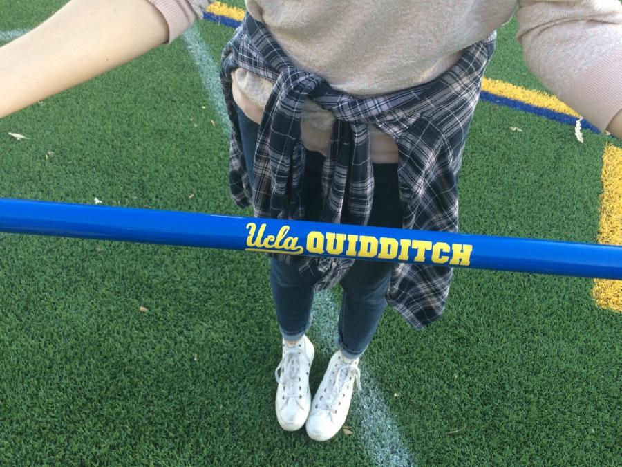 UCLA quidditch stick