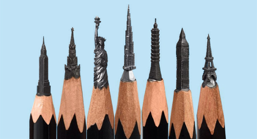 Interview pencil tip carving instagram artist salavat fidai