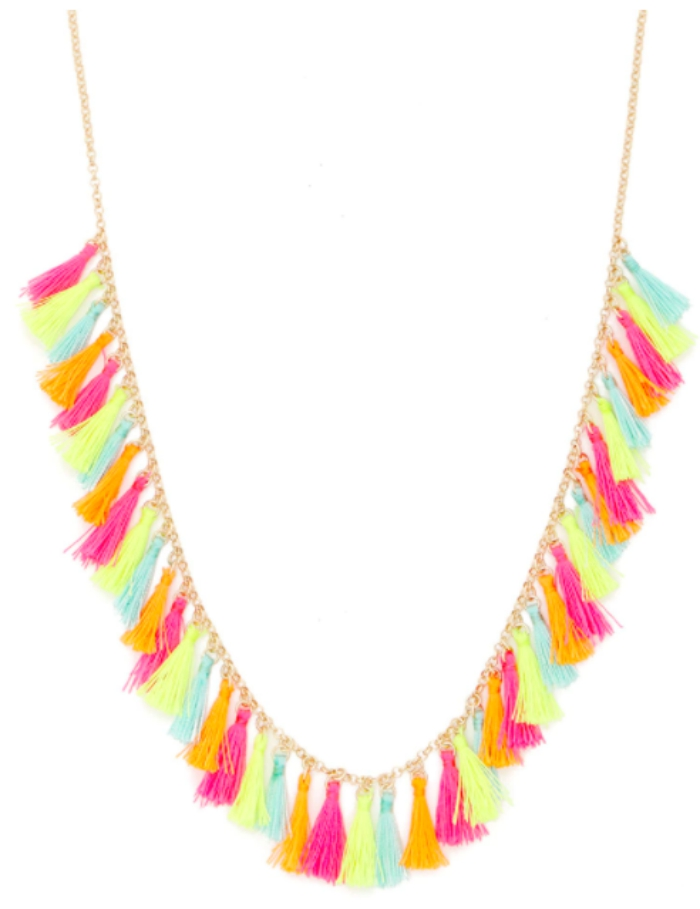 Multicolored Tassel Necklace from Forever 21